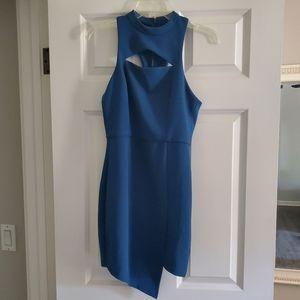 Teal wedding guest dress